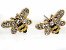 Bumble Bee Stud Earrings Set NEW Fashion Accent Gold Plated