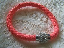 MAGNETIC~ SHAMBALLA_BEAD~ SAMMOND_ LEATHER  ~ BRACELET. (GREAT_ GIFT)