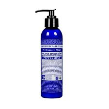 DR BRONNER`S MAGIC ORGANIC PEPPERMINT HAIR CREAM FOR LEAVE -IN COND & LIGHT STYL