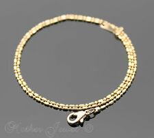 SHORT 40CM 1MM 9K ROSE GOLD PLATED DESIGNER LINK CHAIN LADIES GIRLS NECKLACE
