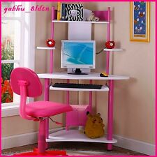 kids desk computer writing center table workstation girls bedroom furniture new childs office chair