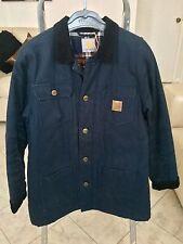 Carhartt W'Chore Coat Navy Blue Size S
