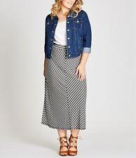 Stunning Plus Size Ladies STRIPE MAXI SKIRT Size 14 (Free Post)
