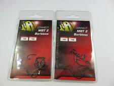 2 PACKS OF JRC CONNECT MBT 2 SIZE 10 CARP HOOKS BARBLESS