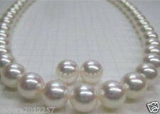 CERTIFICATE! ROUND 11-11.5MM SOUTH SEA GENUINE WHITE PEARL NECKLACE +EARRING 14K