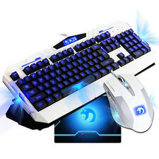 Gaming Keyboard LED Backlight illuminated   Wired USB and  Gaming mouse pad sale