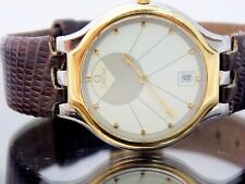 Omega Watch Men's DeVille SYMBOL 18k Gold and Stainless Steel Date Orig. Buckle