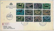SAN MARINO postal history FDC COVER - ZODIAC 1970 - LIONS  FISH  ARCHERY