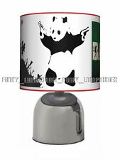 BANKSY ☆ BEDSIDE TOUCH LAMP ☆ ADULT GIFT ☆ BLACK & CHROME TABLE LAMP