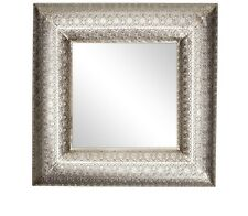 Moroccan Oriental Antique Silver Metal Square Ornate Hall Mirror NEW 56cm Gift