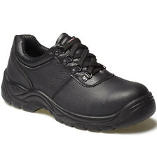 MENS DICKIES CLIFTON BLACK SAFETY WORK SHOES SIZE UK 4 FA13310