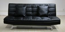 Sophia 3 Seater Sofa bed in bonded leather - Free Cushions - Chrome legs -