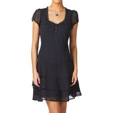 size 6 UK designer CREW tiered dress great for work party casual