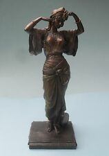 WELL DETAILED VERONESE BRONZED FINISHED DANCER FIGURINE