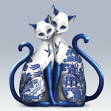 Purr-ecious Blessings of Two Lovers Cats - Blue Willow Cats Figurine