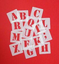 ABC Schriftschablonen 4cm hoch Set 30 einzelne Schablonen Buchstaben / Zeichen