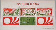 GABON GABUN 1974 Block 27 C155a Soccer Wold Cup Munich Fußball WM Football MNH
