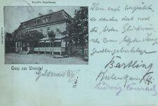 9285/ Foto AK, Mondscheinkarte, Gruss aus Weende, Gasthaus Koch, 1900