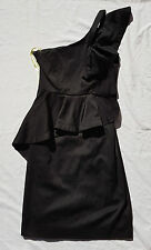 EX CON Bardot Size 8 Dress One Shoulder Ruffle Cutout Party Event Club Chic LBD