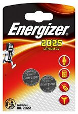 Energizer CR2025 3V Lithium Coin Cell Battery DL2025 - Pack of 2