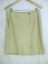 Adrienne Vittadini Size 12 14 Tan Leather Casual Skirt