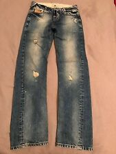 River Island Blue Ripped Straight Jeans 26x32 Brand New (No Tags) RRP £45