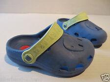 ANSEHEN # Elefanten CLOGS Gr. 22 blau Kinder Schuhe Haussschuhe Kiga Pantoffel