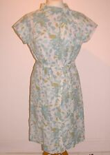 "VINTAGE FLORAL 1960'S SEMI FITTED DRESS 40"" BUST- FREE UK POST"