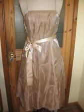 Ladies DEBENHAMS DEBUT gold knee-length strappy ball/evening/party dress 12 NWT
