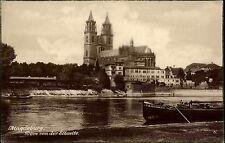 Magdeburg Sachsen-Anhalt ~1920/30 Dom Elbe Kathedrale Schiff Kutter Fluß Kirche