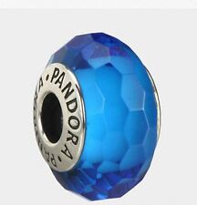Pandora Turquoise Faceted Murano Charm 925 ALE authentic 791607 with Gift Box