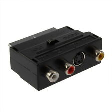 RGB Scart to Composite RCA SVHS S-Video AV TV Audio Cable Adapter E5
