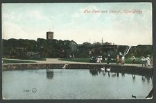 West Kirby Wirral The Park & Church Vintage Valentine Printed Postcard