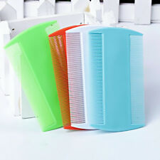 2pcs Flea Hair Combs Head Lice New Plastic Kids Pet Fine Tooth Double Sided Nit