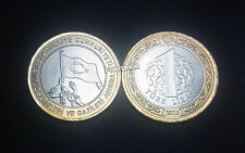 TURKEY 1 LIRA 2016 COMM BiMETAL UNC COIN IN MEMORY OF 15th JULY MARTYRS&VETERANS