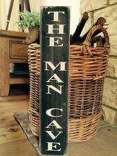 THE MAN CAVE SIGN DOOR SHED GARAGE Christmas GIFT DAD Vintage  Grandad Wooden