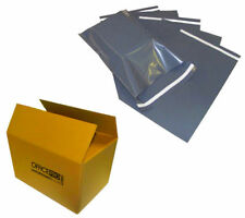 """200 BAGS - 12"""" x 16"""" STRONG POLY MAILING POSTAGE POSTAL QUALITY SELF SEAL GREY"""