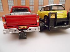 PERSONALISED PLATE MITSUBISHI & MINI on TRAILER Model Toy Car Christmas gift NEW