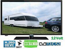 """20""""Zoll 50cm LED TV 12-24V 230Volt Triple Tuner DVB-S2/C/T2 HD H.265 Camping 12V"""
