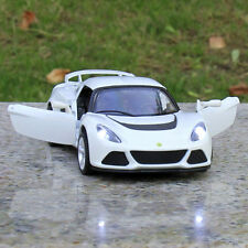 2011 Lotus Exige S White Alloy Diecast Car Model 1:28 Sound & Light Gifts Toys