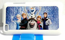 Frozen Characters Pictorial White Back Hard Case For iPod Touch 4th Gen