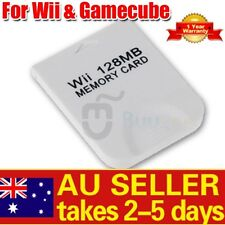 128 MB Memory Card for Nintendo Wii Gamecube 128MB AU STOCK