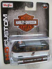 VW Samba BUS  Volkswagen Custom **MAISTO Harley Davidson ltd. 1:64 OVP
