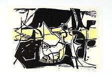 Gudrun Wywias / Mehrfarben - Linolschnitt / Grafik, handsigniert