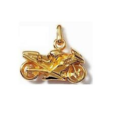 PENDANT MOTORCYCLE special biker plated nine gold