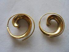 1 Paar Ohrringe aus Indien Spiralenform Schmuck Messing Hippie Goa Neu