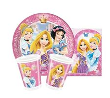 Disney Princess GLAMOUR Birthday Party Pack For 16 (Napkins/Cups/23cm Plates)