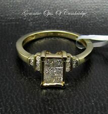 10ct Gold 0.5ct Princess Diamond Dress Ring Size N 2.6g with SGL LAB Certificate