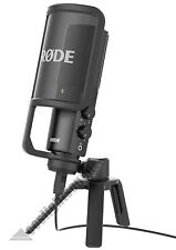 RODE NT-USB STUDIO-QUALITY USB MICROPHONE WITH STAND AND POP FILTER