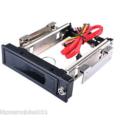 "5.25"" HDD-ROM Mobile Rack Hot Swap for 3.5"" Sata Hard Disk Drive HDD UK"